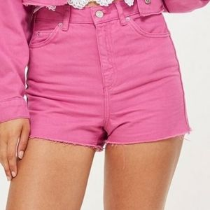 Top Shop hot pink high waisted shorts